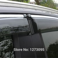 awning for car - For Toyota RAV4 Window Visor Vent Shades Sun Rain Deflector Guard Awnings Protector Car Styling Accessories set