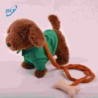 al por mayor juguetes de muy buena calidad-eléctrica de peluche mascota perro a pie de muy buena calidad y haciendo música de juguete encantador del perro buen regalo para los niños
