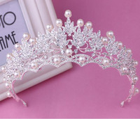 big crystal store - Real Photos In Store Wedding Bridal Tiaras Hot Sale Luxurious Crystal Pearls Big Crowns Stunning Wedding Hair Accessories