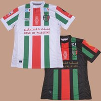 Wholesale 2016 Club Deportivo Palestino Club Team Home White Away Black Football Soccer Jerseys Shirt Estadio Munici Chilean League of Football
