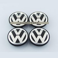 Wholesale 65mm B7 VW POLO JETTA PASSAT Volkswagen logo badge emblems Emblem Wheel Center Caps Covers