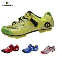 Wholesale SIDEBIKE Professional Men Women Mountain Bike Racing Athletic Shoes Breathable Bicycle MTB Sports Self Locking Cycling Shoes