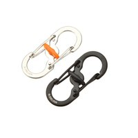 anti theft backpacks - Outdoor Camping Equipment Stainless Steel Shape Buckle Snap Clip Climbing Carabiner Backpack Anti theft Hanging Keychain
