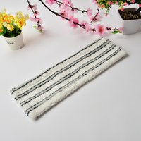 aluminum baskets - Grey And White Stripes Microfiber Cleaning Mop Cloth Flat Mop Head For Home Cleaning