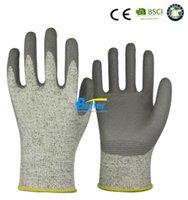 Wholesale Working Gloves Cut Proof Grade PU ESD Gloves Cut Resistant Work Gloves HPPE Anti Cut Work Glove