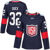 blanks usa - 2016 World Cup Blank Women s Team USA Hockey Jerseys Jonathan Quick Patrick Kane Stitched Embroidery Logos Hockey Jersey Any Name