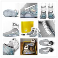 baseball hooks - Air Mag Marty McFlys Sneakers Glow In The Dark Men s Basketball Shoes Mag Glow In The Dark Sneaker Grey Black Men s Shoes Quality