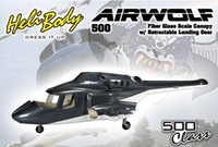 airwolf toy helicopter - 500 size airwolf scale Fuselage Bell TREX E helicopter W retracts airwolf fuselage P2