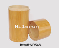 Wholesale bamboo tea caddy coffee canister