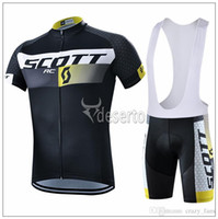 Wholesale 2015 Scott Breathable Cycling Jerseys Mountain Bicycle Clothes Racing Bike Clothing Cycle Jerseys Cycling Bib GEL Shorts Pants