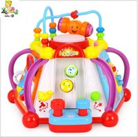 activity play cube - Baby Toy Musical Activity Cube Play Center with Lights Functions Skills Learning Educational Toys For Kids