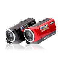Wholesale Hot Sale HDV Digital Video Camera Camcorder Cam HD P MP Degree Rotate DVR quot TFT LCD Screen x ZOOM Black Red