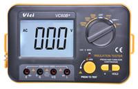 Wholesale 2016 Digital Insulation Resistance Tester VC60B Electronic Megger MegOhm Meter V V V High Voltage And Short Circuit Input Alarm