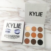 Wholesale Kylie Kyshadow Pressed Powder Eye Shadow Bronze Palette Kyshadow Kit Creme Shadow Limited Kylie Jenner Cosmetics Colors Eyes Makeup Kit