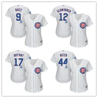 Wholesale Lady World Series Champions Patch Javier Baez Kyle Schwarber Kris Bryant Anthony Rizzo Women s Chicago Cubs Basebll Jerseys