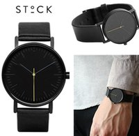 Wholesale 2016 stock Famous Brand Mens Watches Top Brand Luxury Business Quartz watch Clock Leather Strap Male Wristwatch Relogio Masculino