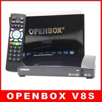 Wholesale DHL fast ship Original Openbox V8S Satellite Receiver S V8 SV8 Support WEBTV Biss Key x USB Slot USB Wifi G Youtube Youporn CCCAMD NEWCAMD