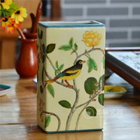 Wholesale Fashion chinese hand painted Ceramic flower holder tabletop vase floral and Bird pattern modern Household decoration art and craft
