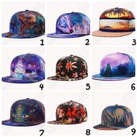 baseball paintings - 29 Design D Printed Caps Buddha Oil Painting Pattern Sports Baseball Cap Unisex Fitted Snapback Cap Maple Leaves Hip Hop Cap CCA4806