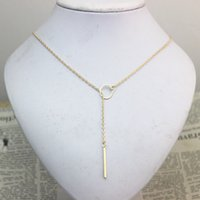 bars tone - SALE Star Jewelry pc New Hot Unique Charming Gold Tone Bar Circle Lariat Necklace Womens Chain Jewelry Gift Cheap Drop Free