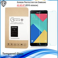 Wholesale Premium mm Clear Explosion Proof Tempered Glass Film Screen Protector Guard For Samsung Galaxy A3 A5 A7 A8 A9 With Retail Package