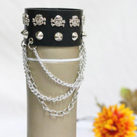 bar business model - In business European and American fashion rivet punk skull combination chain bracelet jewelry bracelets couple models hip atmosphere