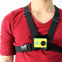 Wholesale Adjustable Chest Harness Durable Body Harness Shoulder Chest Strap Mount Belt with J Hook Buckle For Xiaoyi Gopro Action Camera