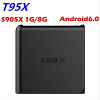 Wholesale 2016 newest android tv box T95X G G Amlogic S905X Quad Core Android TV Box with K K Kodi with DHL shipping
