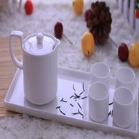 Wholesale New Japanese Style White Fine Bone China Porcelain Kung Fu Tea Sets Coffee Sets Ceramic Teapot Cup Sets Gift