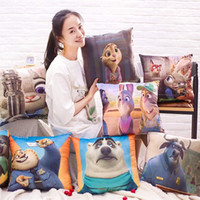 Wholesale Hot Zootopia Cartoon Hold Pillow inch Square Judy Hopps Plush Toy Nick Wilde Flash Animal PP Cotton Pillow