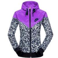 Wholesale Spring Autumn new Women s sports jacket hooded jacket Women Fashion Casual Thin Windbreaker Zipper Coats