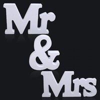 Wholesale 1 Set Persona quot Mr Mrs quot Wooden Letters Wedding Decoration Present Gift Inch Height White