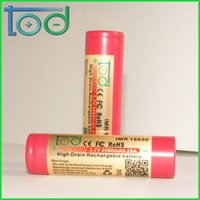 Wholesale Factory directly sell TOD IMR V mAh A High Drain Rechargeable Battery with protected cell best for E Cigarette