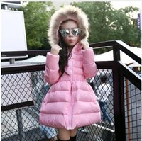 Wholesale Girls Jackets Coats New Arrivals Fashion Fur Hooded Thick Warm Parka Down Kids Clothes Cotton Children s Outwear Clothing