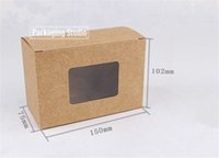 Paper apparel boxes retail - 15 cm Kraft Paper Window Boxes for Soap Gift Tea Packaging Boxes Retail Custom Boxes