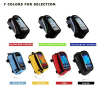 Wholesale B ROSWHEEL Cycling Bike Bicycle bags panniers Frame Front Tube Bag For Cell Phone MTB Bike Touch Screen BICYCLE PHONE bag