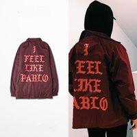 Wholesale Fall Kanye West Trench YEEZUS SENSON3 trainers red jacket windbreaker