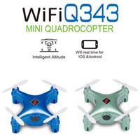 Wholesale 2016 WL toys New Products Mini rc Quadcopter WLToys Q343 with camera WIFI Drone Mini Camera UAV G Remote Control HD Camera