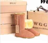 band wedge boots - Hot Selling Fashion WGG leather fur Warm Winter Snow Boots plus size woman SIZE