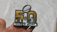 Wholesale Super Bowl Jersey Patch Superbowl L Embroidered Patch Iron Sew On th champion super bowl patch