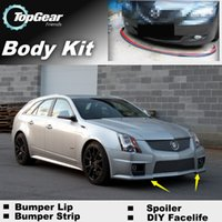 ats tuning - Bumper Lip Lips Front Skirt Deflector Spoiler For Car Tuning The Stig Recommend Body Kit Strip For Cadillac ATS