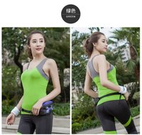 Wholesale Ms summer vest Han edition cultivate one s morality of yoga gym clothes splicing yoga clothes with breast pad