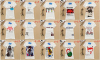 Wholesale Women round neck T Shirt Short Sleeve Tee Solid color Plus size T Shirts Retail tees polos cartoon shirts