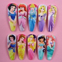 ariel hair clip - princess hairpins Elsa anna Snow white girls Barrettes hair accessories sofia Cinderella Ariel Mermaid Jasmine hair clips bobby pin