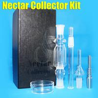 Nectar Collector kit miel paille 2.0 verre conduites d'eau du tuyau bong voyage de quartz de titane pointe bongs 14MM Oil Rigs Dabs de cendres rig narguilés