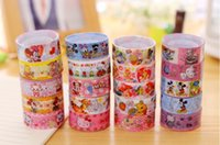 Wholesale 2016 Cute Stationery Bopp Cartoon Adhesive Tapes Shool Supplies Desk Accessories Korean Stationery Gifts For Students