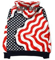 american flag cardigan - American Flag Hoodies Men New Fashion Zippered American Flag Print Hooded Cardigan