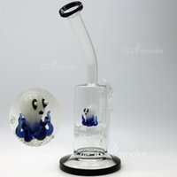 animal eagles - 2016 small octopus bong Two Functions Funny Colorful Animal glass water pipes Green Turtle Eagle Frog Swan Honeycomb dab Oil Rigs heady Bong