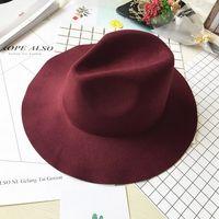 Wholesale Colors High Quality Wool Fashion New Vintage Women Ladies Floppy Wide Brim Wool Felt Fedora Cloche Hat Cap