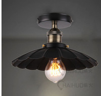 art restoration - Industrial Flushmount Umbrella Ceiling Lamp Restoration Chandelier th C Factory Light Surface Mounted AC V V